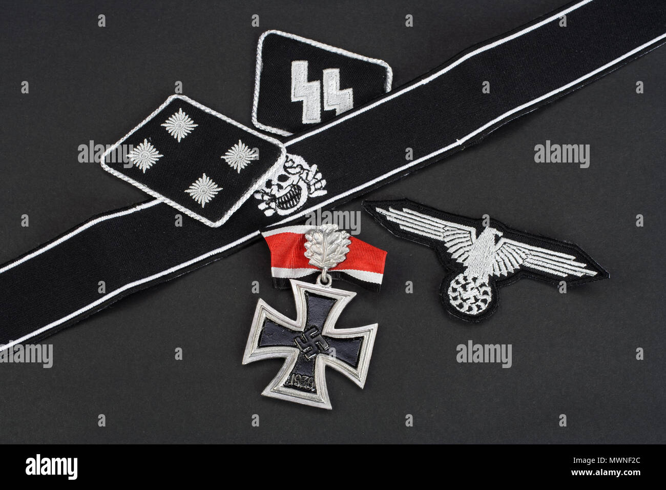 WW2 German Waffen-SS military insignia Stock Photo