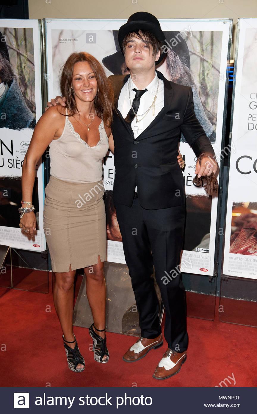 """Karole Rocher and Pete Doherty. Actor Pete Doherty attends the """"Confessions  D'un Enfant Du Siecle"""" premiere at UGC Cine Cite des Halles in Paris,  France."""