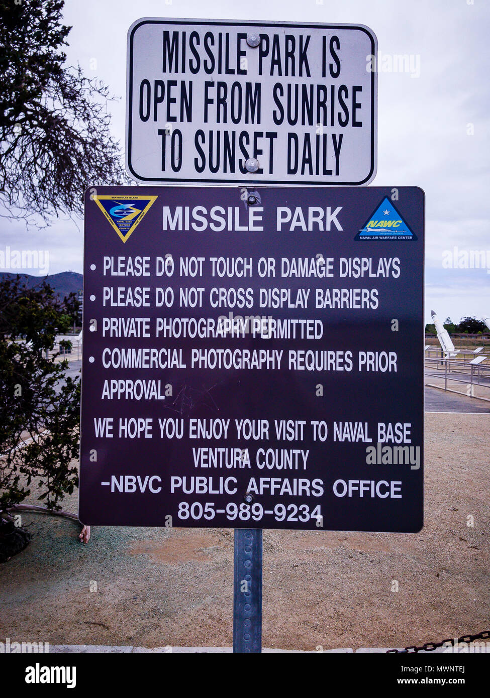 Stock Photo - Point Mugu Missile Park, Port Hueneme, California, United States  © Hugh Peterswald/Alamy - Stock Image
