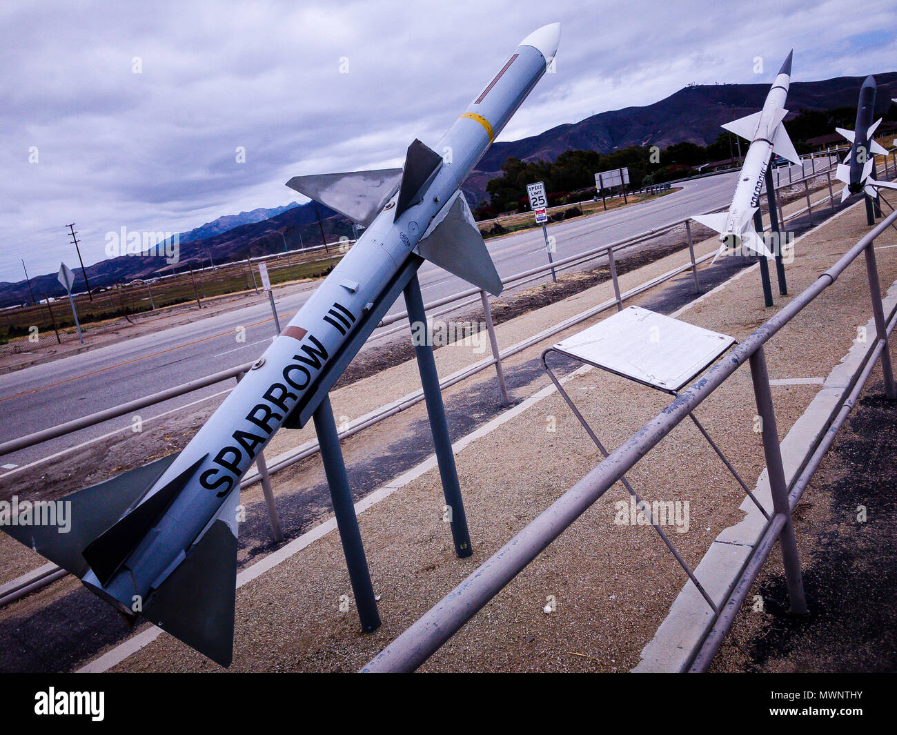 Stock Photo - Sparrow III , Point Mugu Missile Park, Port Hueneme, California, United States  © Hugh Peterswald/Alamy - Stock Image