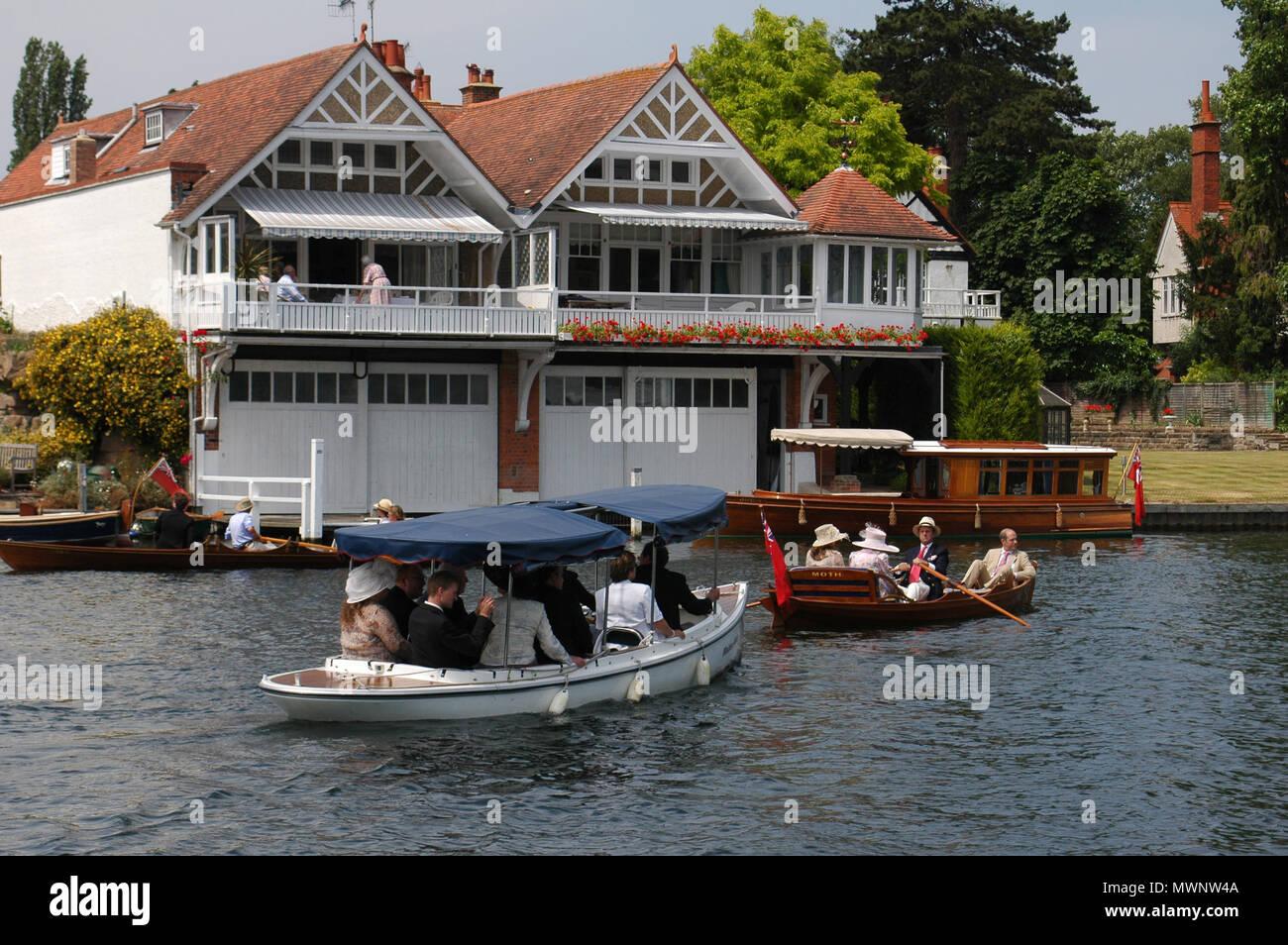 Henley Royal Regatta, Oxfordshire, UK Stock Photo