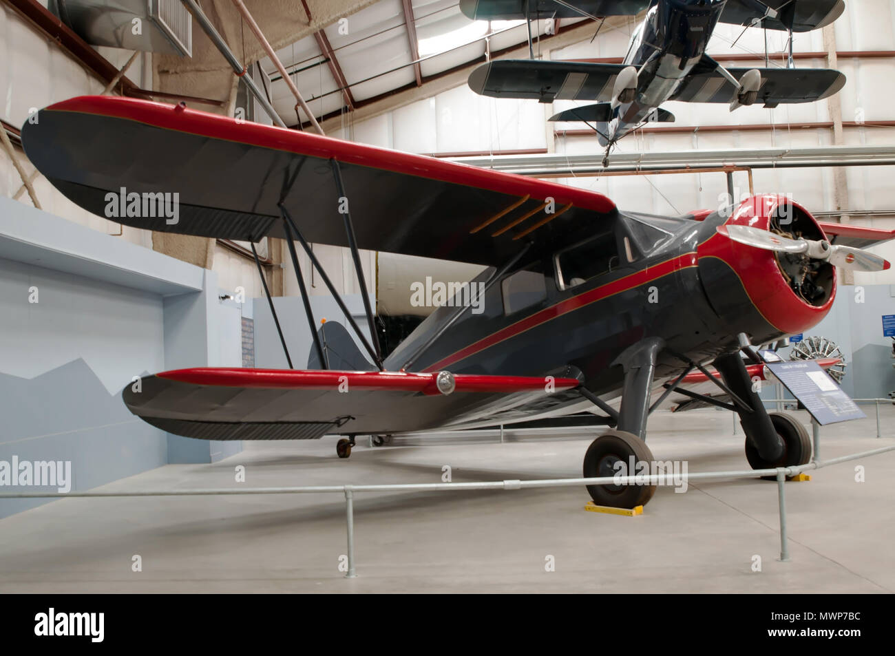 The WACO ZKS-6 bi-plane on display at the Pima Air and Space Museum in Tuscon, Arizona - Stock Image