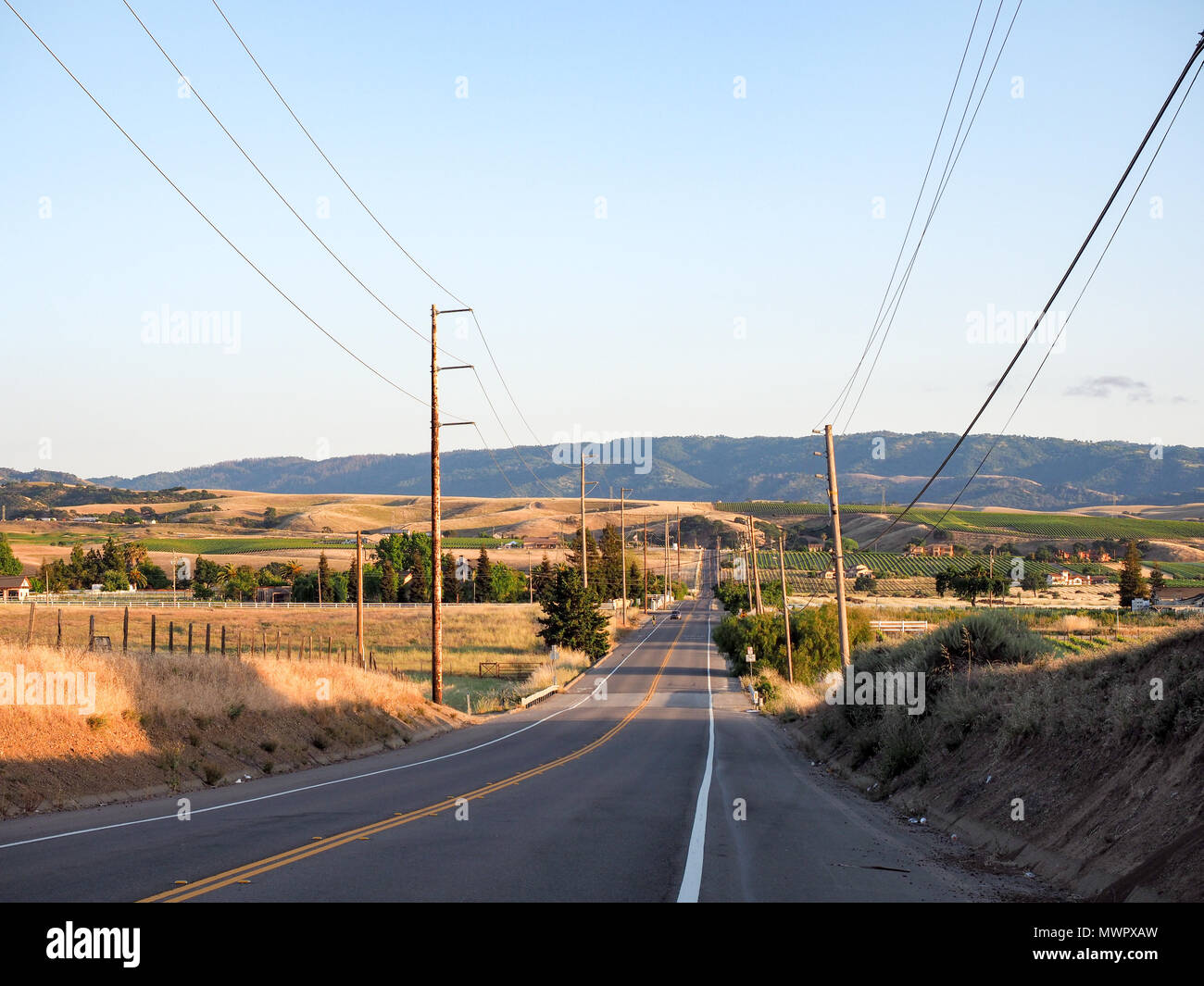 sunset on greenville road at tesla road livermore wine country california stock photo alamy https www alamy com sunset on greenville road at tesla road livermore wine country california image187973713 html
