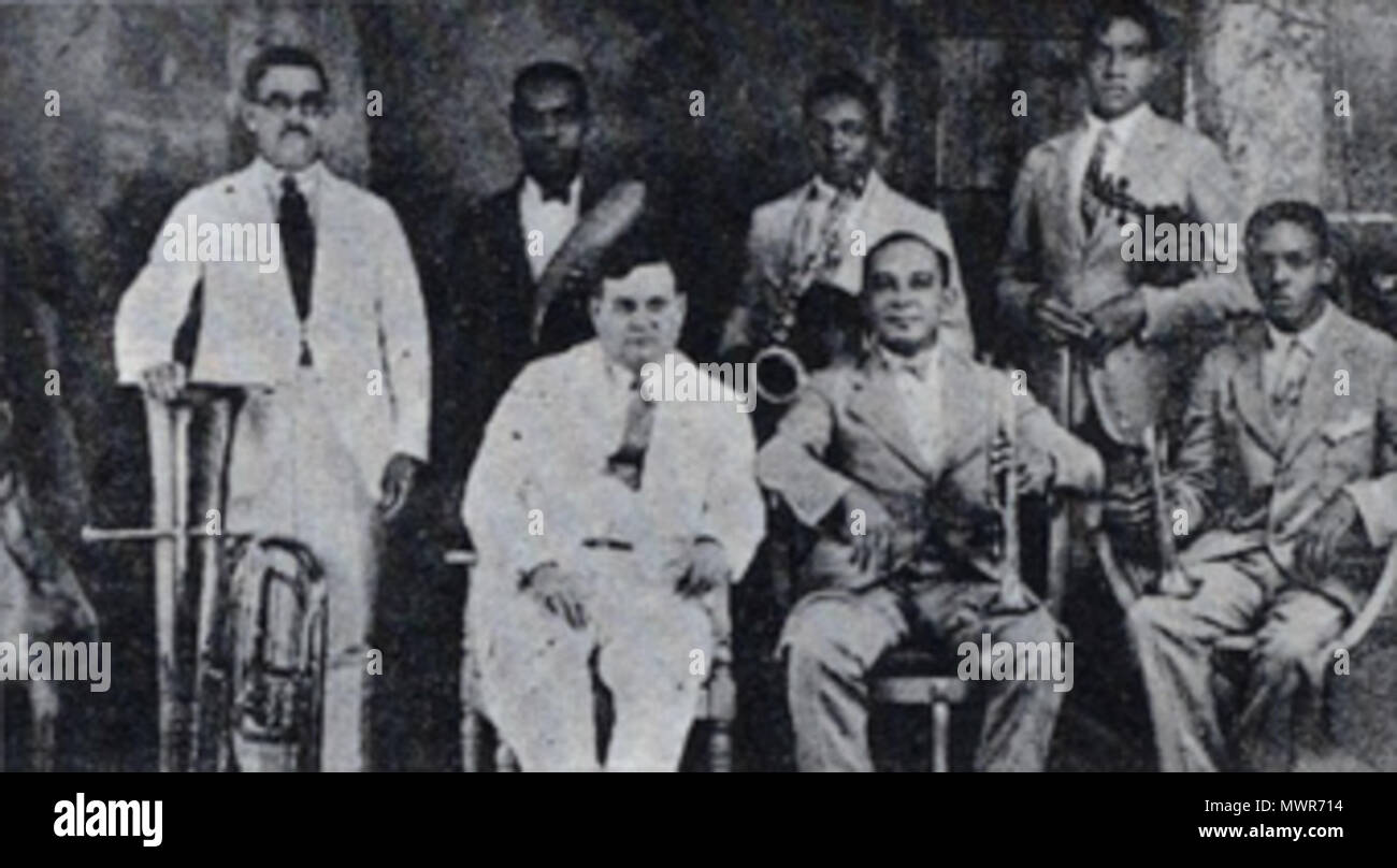 English Photo Of Pedro Stacholy And His Jazz Band Sagua 1920s Unknown