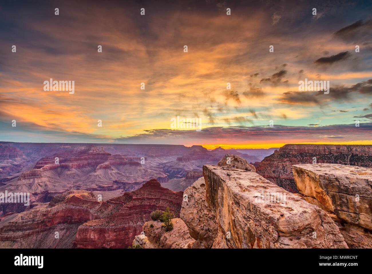 Grand Canyon, Arizona, USA at dawn from the south rim. - Stock Image