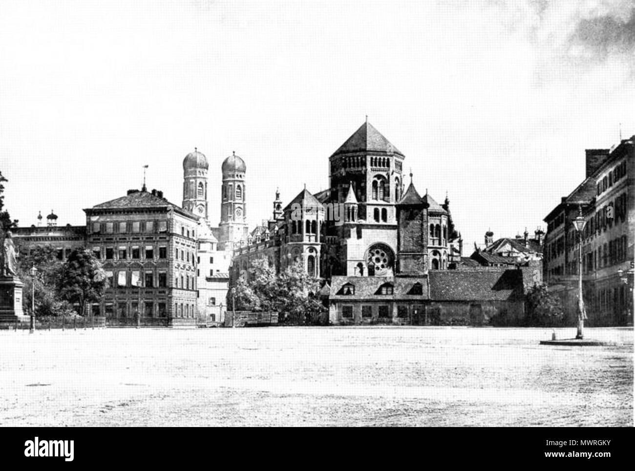 583 Synagoge Herzog-Max-Strasse Lenbachplatz 1889 - Stock Image