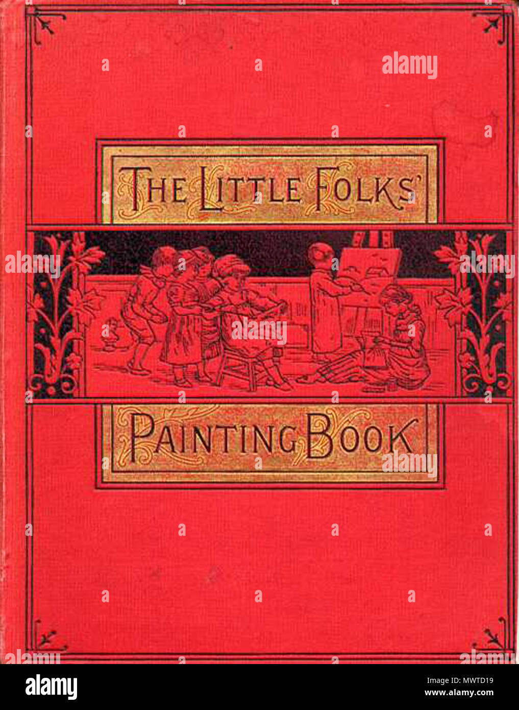 English: The original cover of The Little Folks Paint Book, often ...