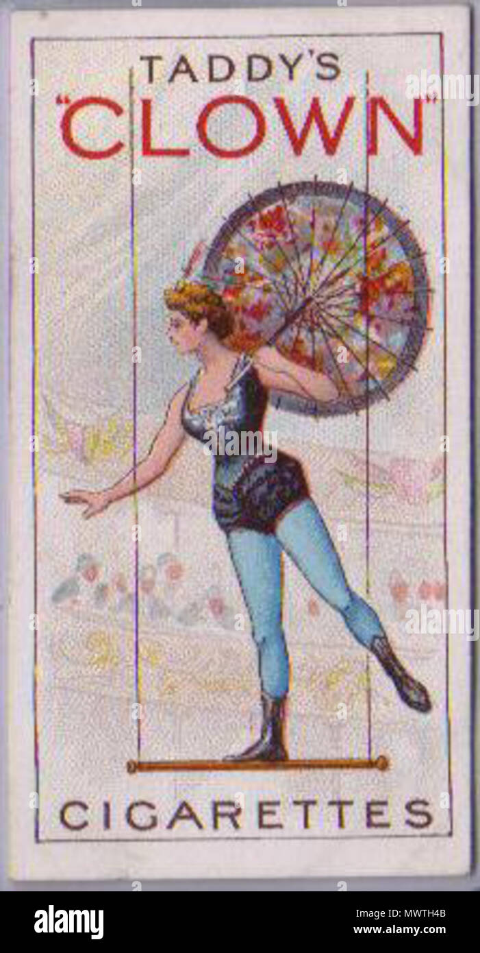 . English: An original Taddy's Clowns and Circus Artistes card from the UK (1920s). 13 August 2011. Taddy and Co., London 586 Taddy Clown - Stock Image