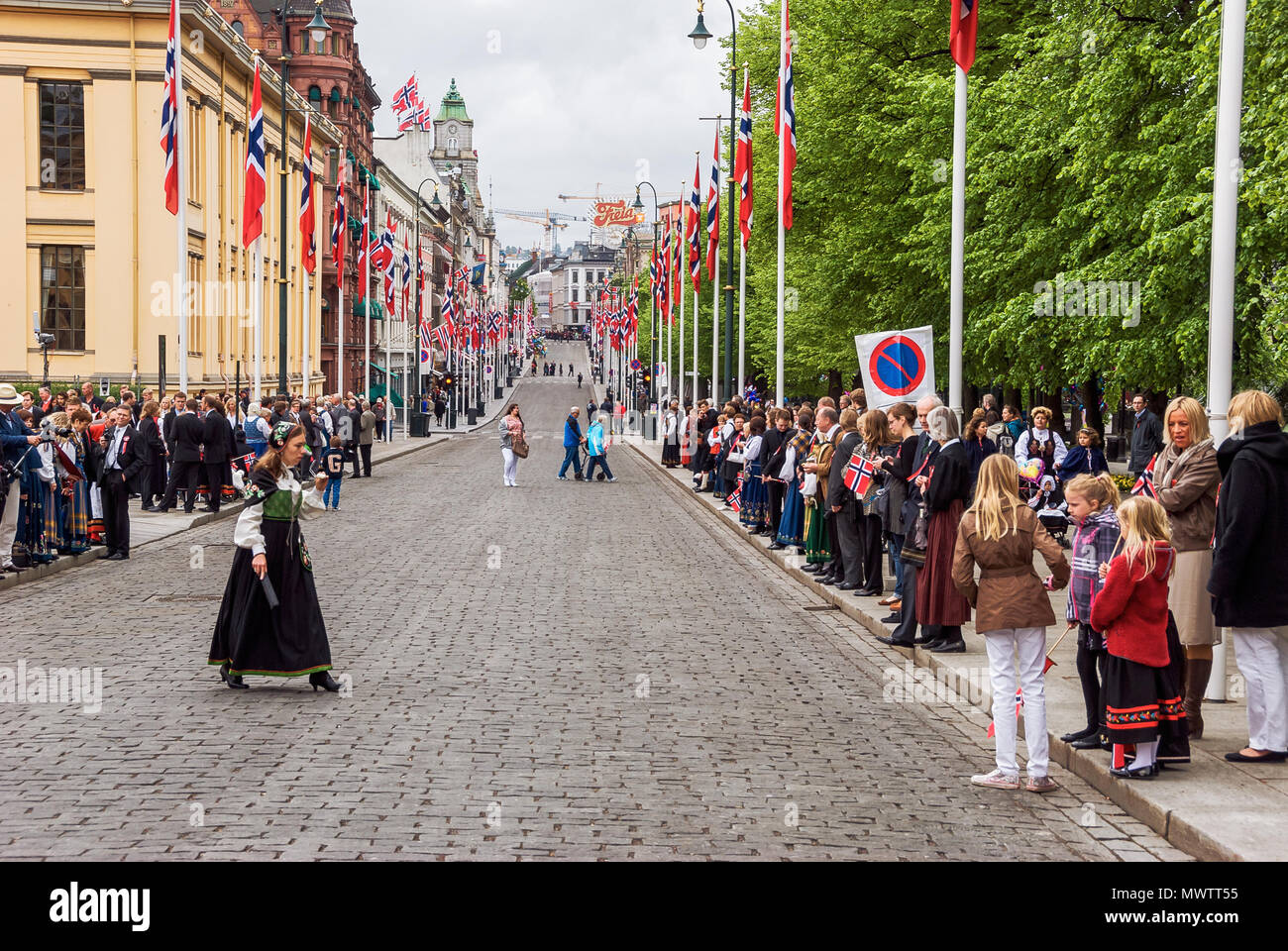 Norway - Oslo on Norwegian Constitution Day Stock Photo
