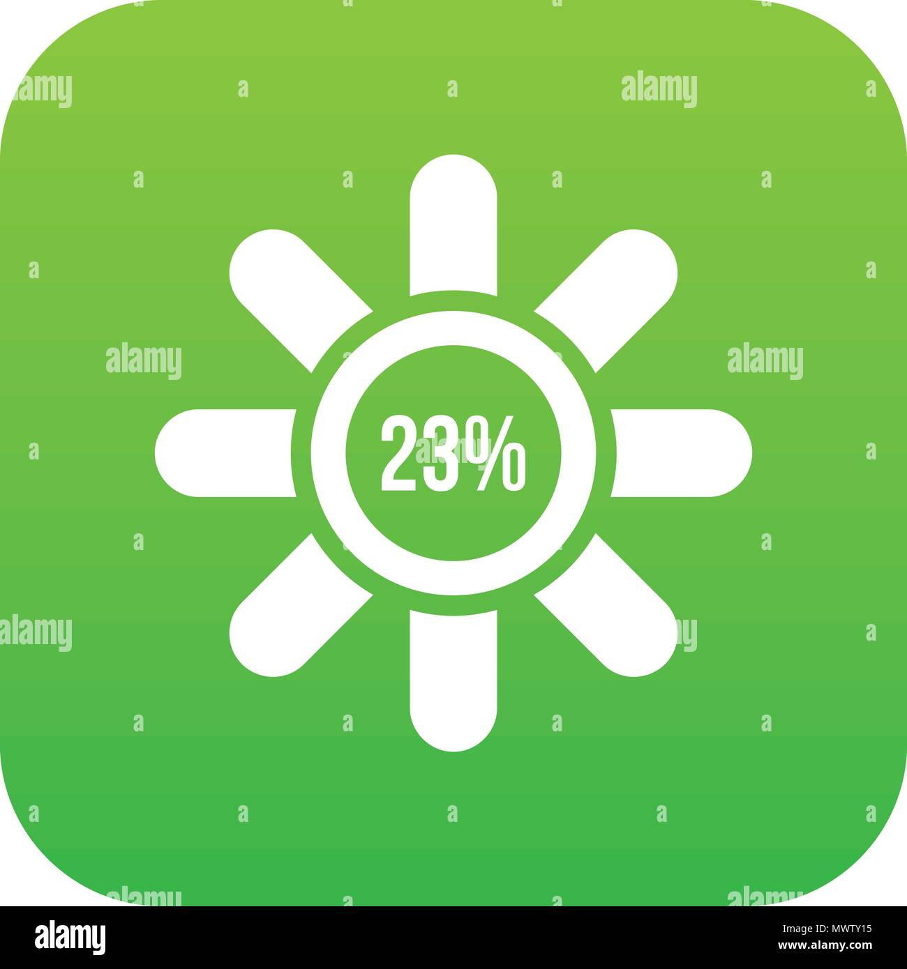 Sign 23 load icon digital green - Stock Vector
