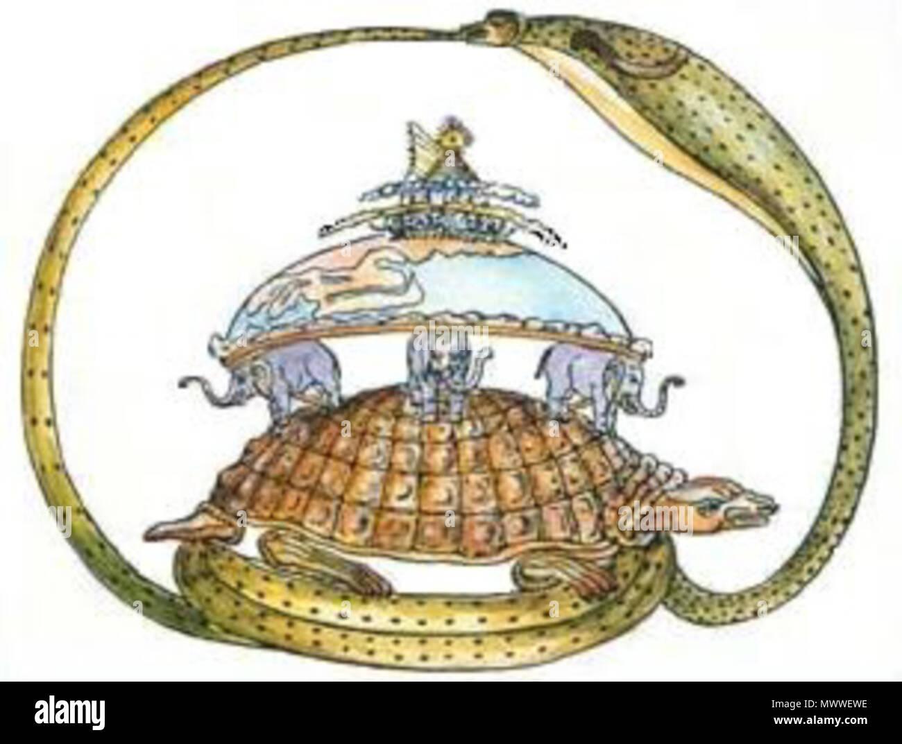 English The Turtle And Elephants Flat Earth Myth Native Science 602 THE TURTLE AND ELEPHANT
