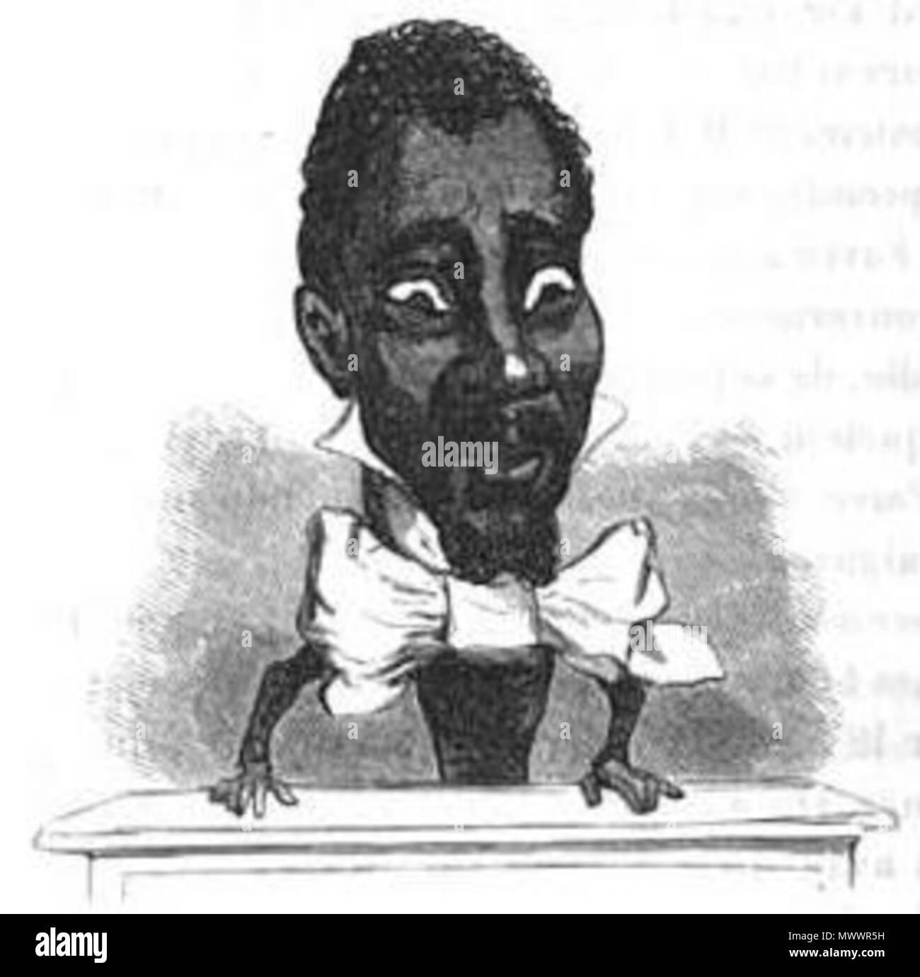 . Français: Caricature de Louisy Mathieu (1817-1874) par Cham. 1850. Cham (Amédée de Noé) 379 Louisy Mathieu par Cham Stock Photo