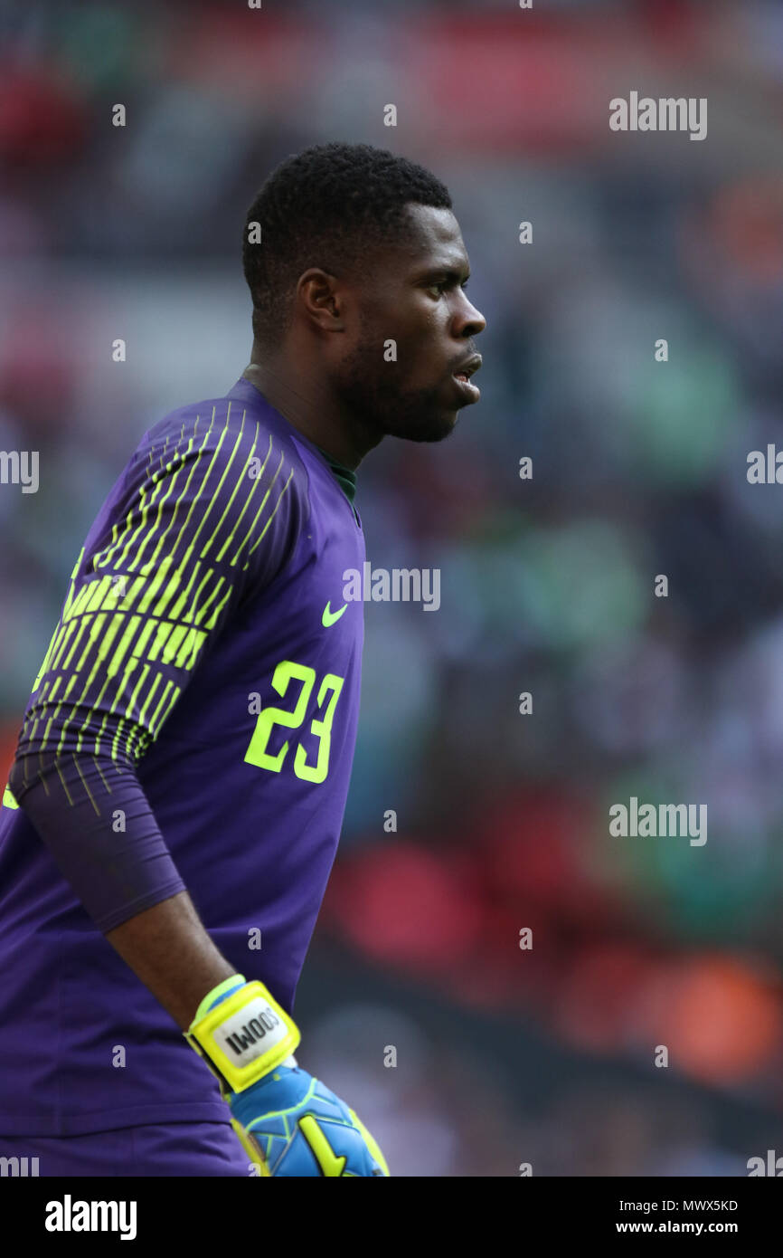 London, UK. 2nd June 2018.Francis Uzoho (N) at the England v Nigeria Friendly International match, at Wembley Stadium, on June 2, 2018. **This picture is for editorial use only** Credit: Paul Marriott/Alamy Live News Stock Photo