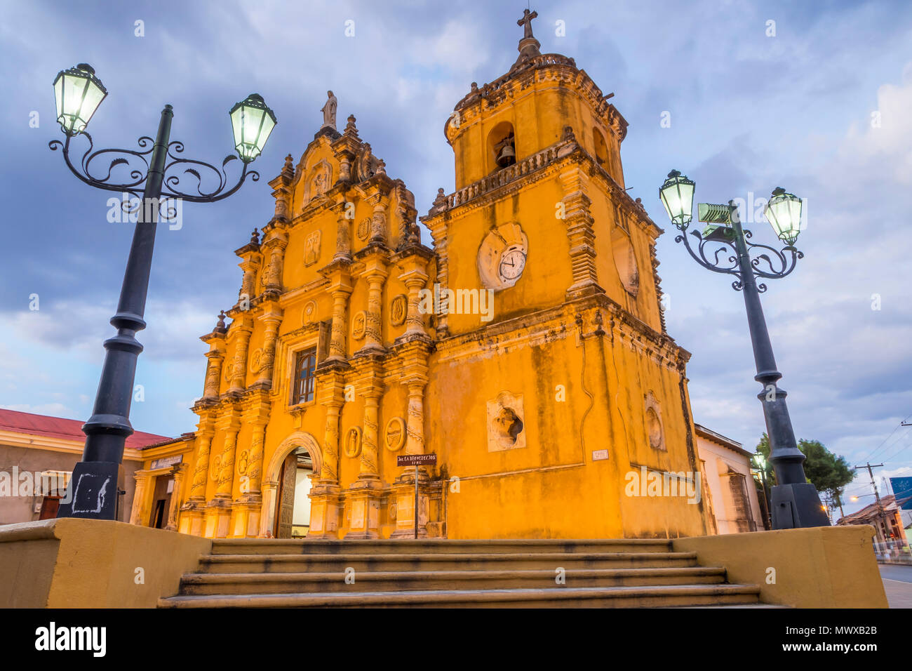 The Recollection Church in Leon, Nicaragua, Central America - Stock Image