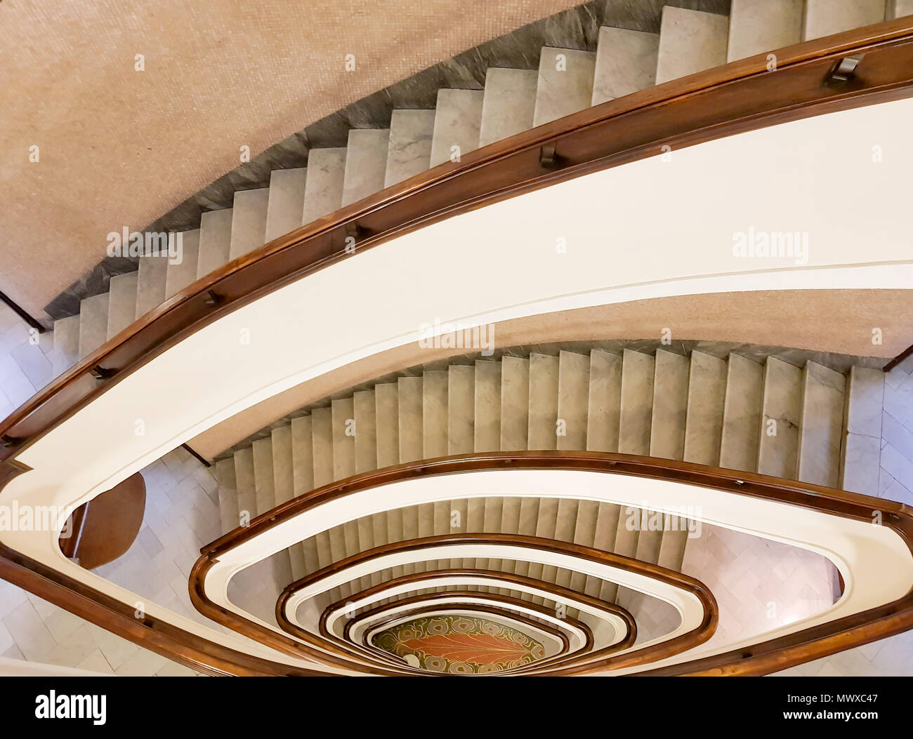 antique spiral staircase stock photos antique spiral staircase stock images alamy. Black Bedroom Furniture Sets. Home Design Ideas