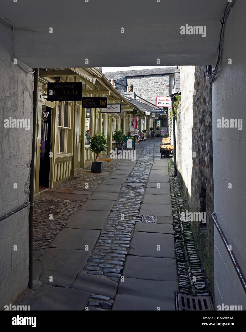 The New Shambles, Kendal, Cumbria, England, United Kingdom, Europe. - Stock Image