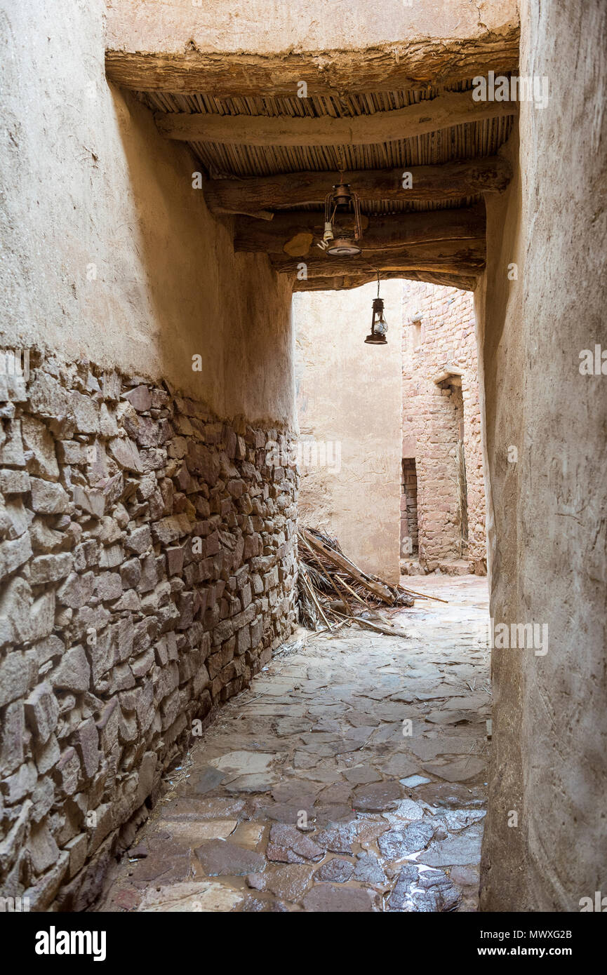 The old ghost town of Al Ula, Saudi Arabia, Middle East - Stock Image