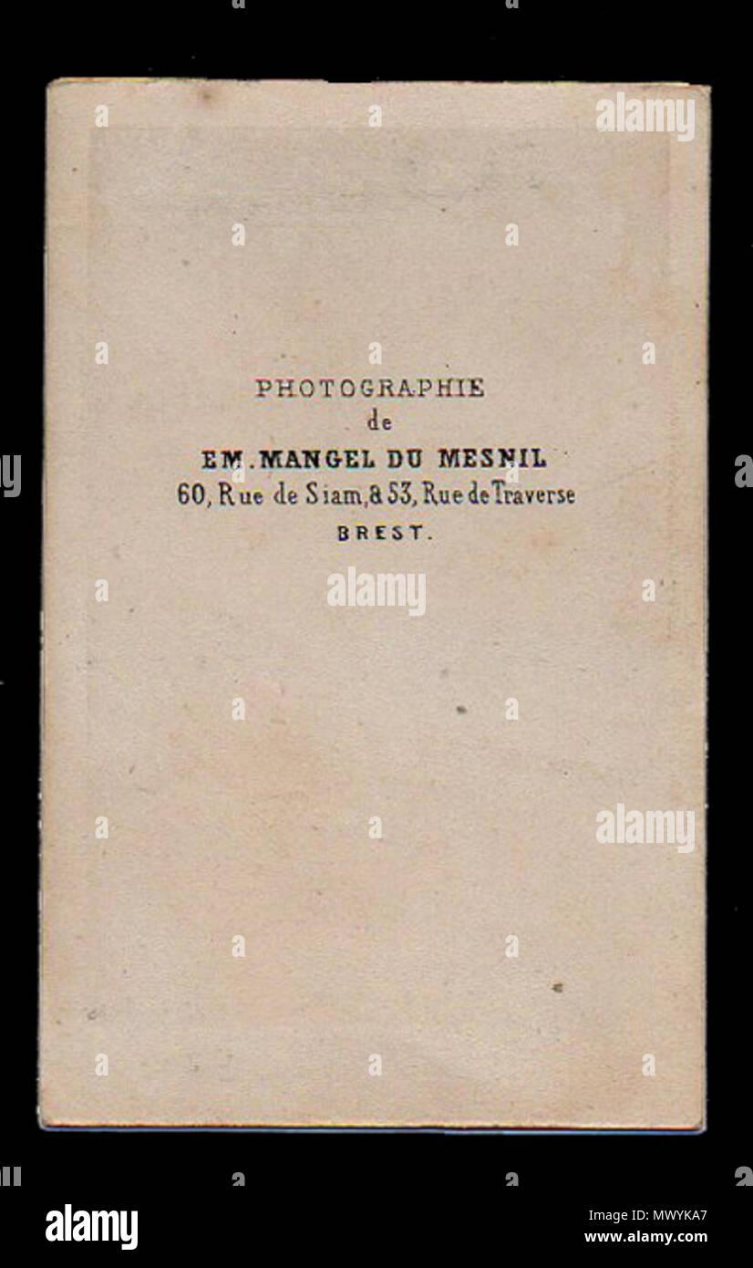 Espaol Dorso De Una Carte Visite Marcos Sastre Montevideo 1808