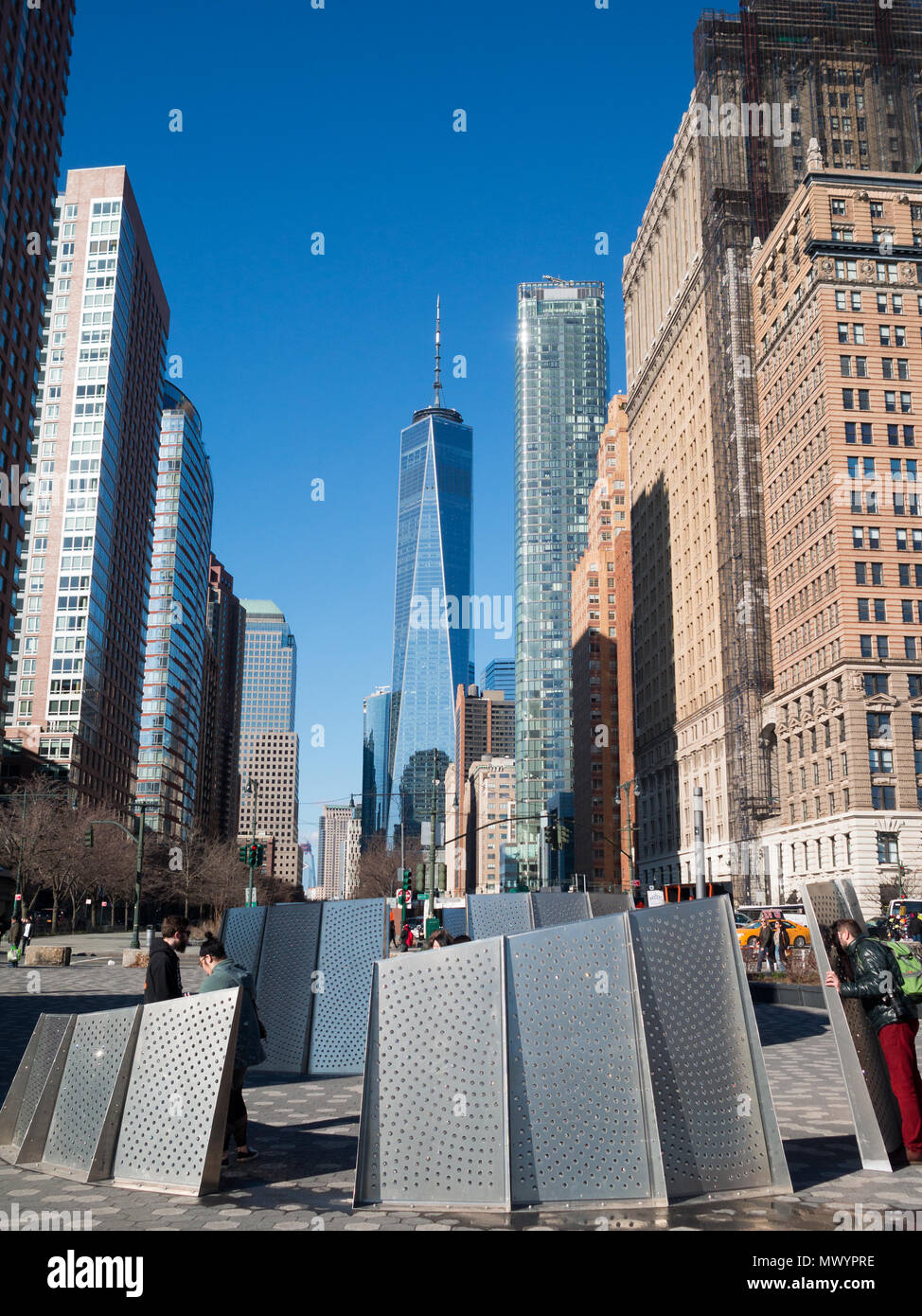 1 WTC seen from Battery Park - Stock Image