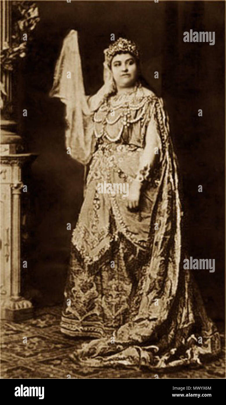 . English: Soprano Amalie Materna as the Queen of Saba in Goldmark's Die Königin von Saba, probably Vienna 1875. circa 1875. Unknown 41 Amalie Materna as Queen of Saba - IL2 Stock Photo