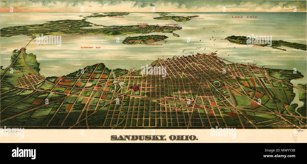 English: A birdseye view of Sandusky, Ohio c.1898 ... on lake erie islands, lake erie mentor ohio, lake erie lorain ohio, hotels in ohio, lake erie storm, lake erie on map, lake erie kent ohio, lake erie avon lake ohio, lake erie port clinton ohio, lake erie marblehead lighthouse ohio, lake erie cleveland ohio, lake erie monroe michigan, lake erie ohio resorts, lake erie madison ohio, lake erie conneaut ohio, lake erie ohio tourism, lake erie ohio cottages, lake erie toledo ohio, lake erie ashtabula ohio,