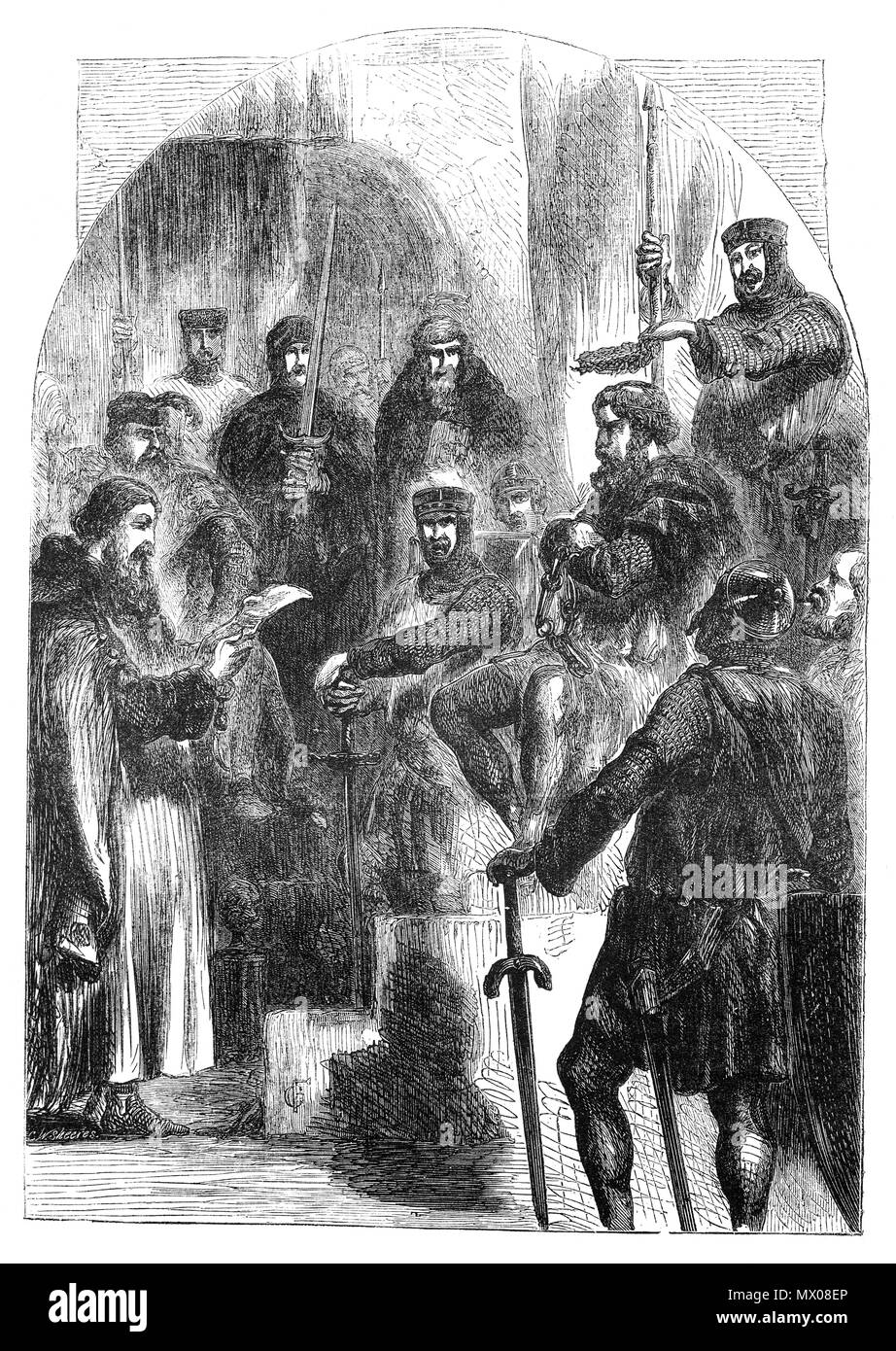 Sir William Wallace Being Crowned With Laurel To Suggest He Was