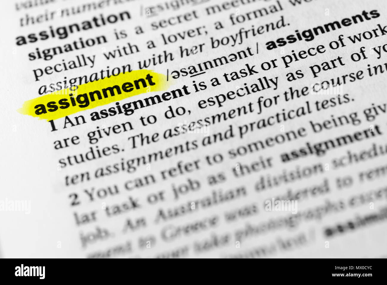 word assignment