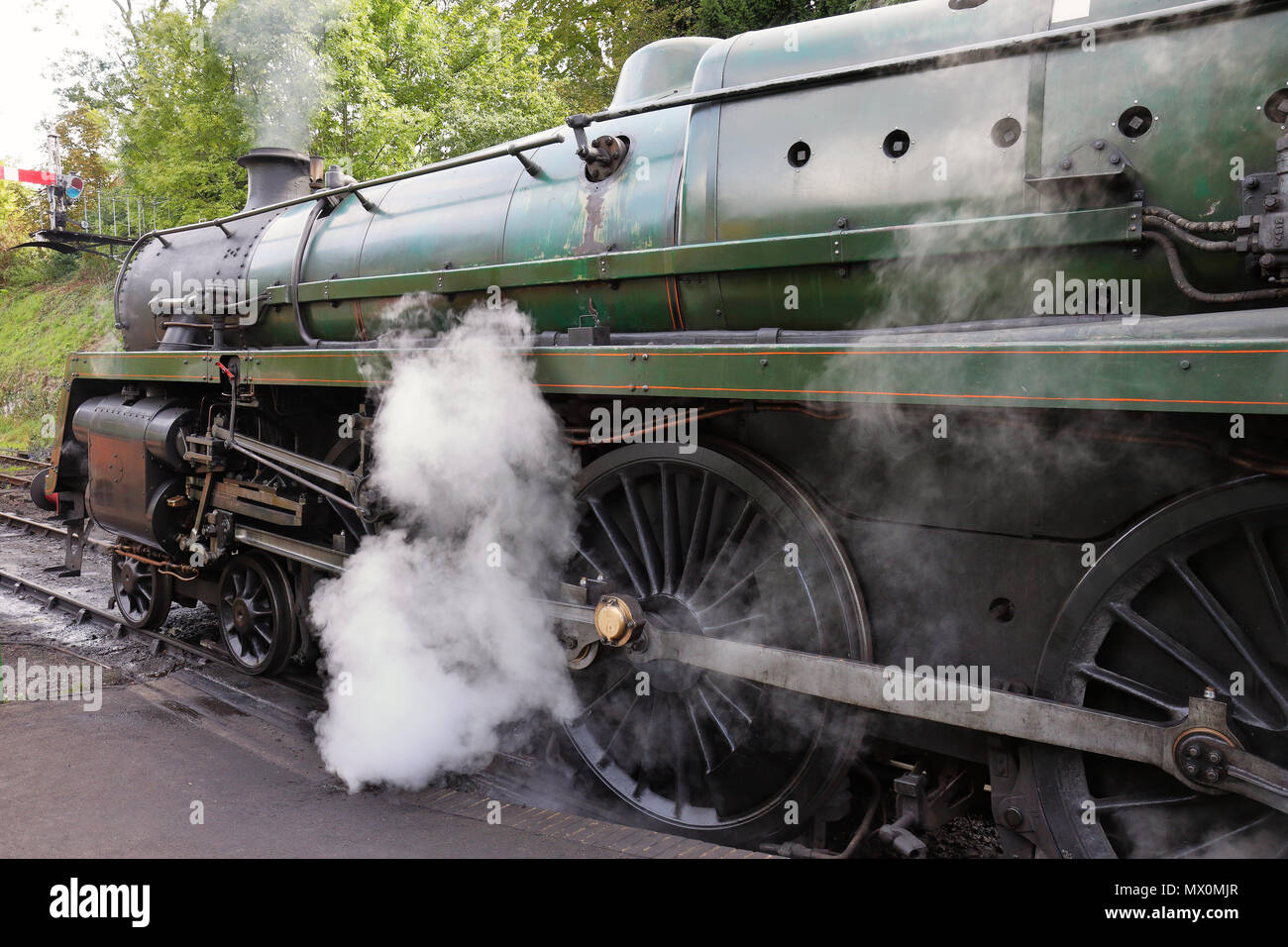 The Age of Steam, Vintage Steam Locomotives on an English Railway - Stock Image
