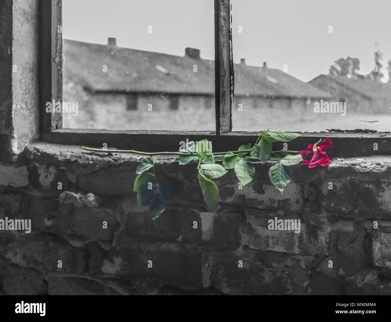 Auschwitz, Poland - the most deadliest extermination camp during the holocaust, and still today an unforgettable experience for each visitor - Stock Image