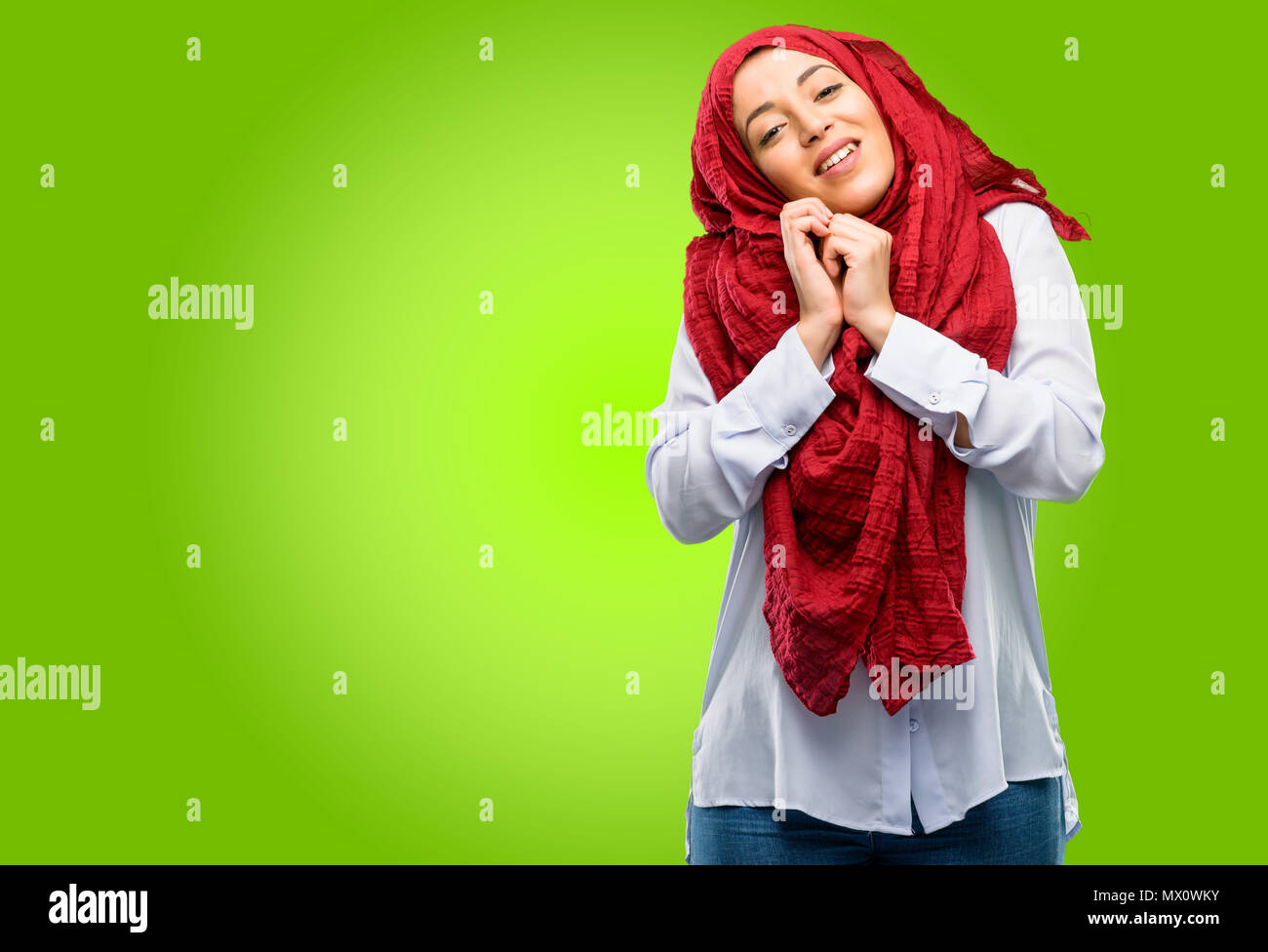 Single Muslim Female Standing In Stock Photos & Single
