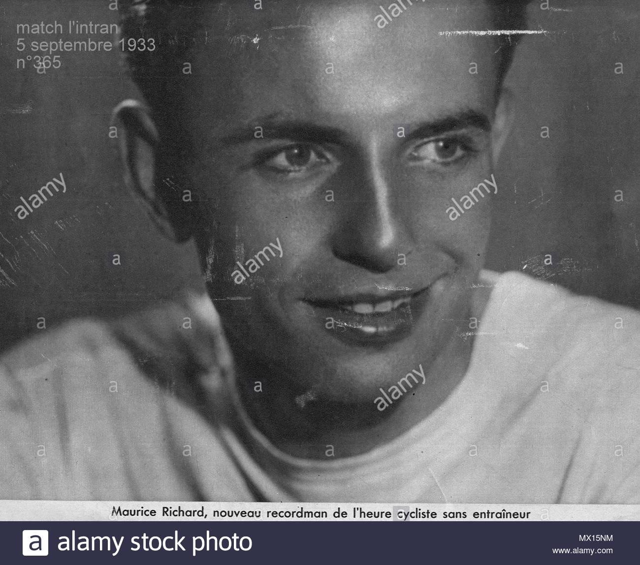 Français 1933 maurice richard est le nouveau recordman de lheure cycliste sans
