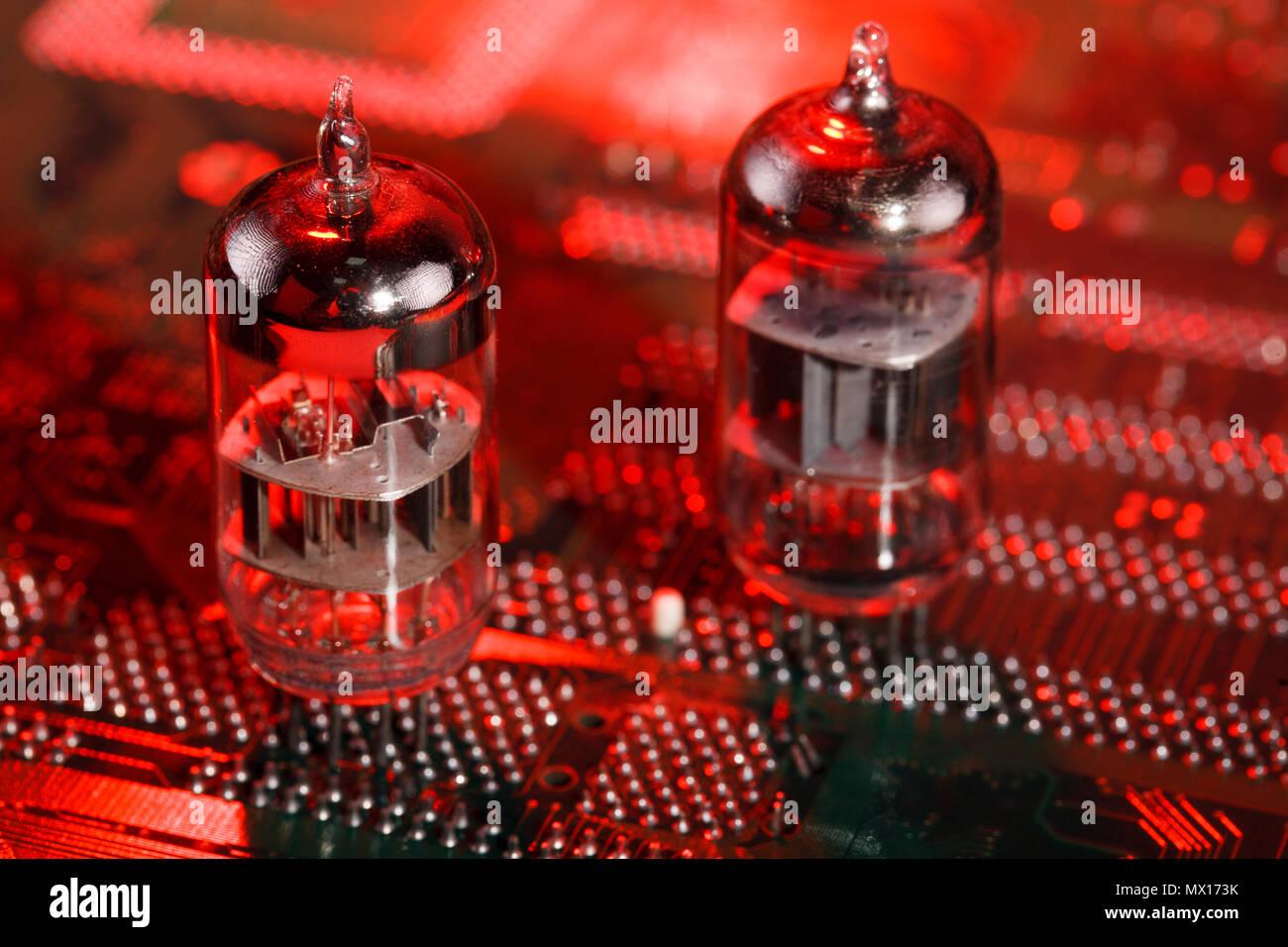 Circuit Board Television Tv Tube Stock Photos Boardtv Amplifier Buy Radio Pcb Electronic Vacuum On Image