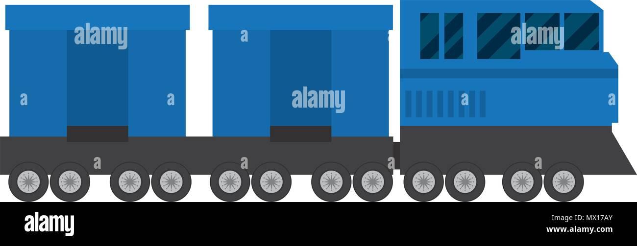 side train transport wagon technology - Stock Vector