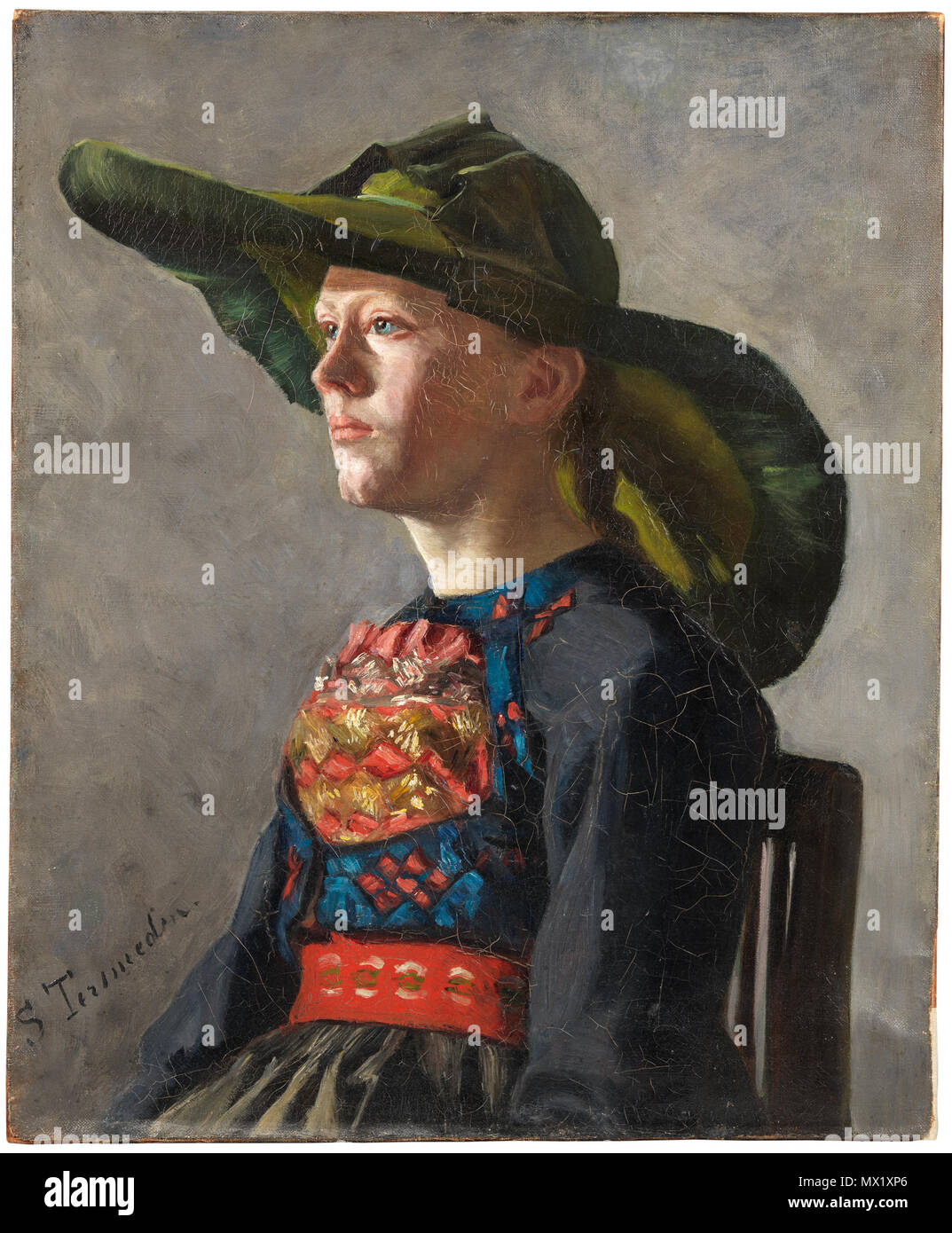 .  English: Bavarian Peasant Girl Svenska: Bayersk bondflicka  . Unknown date 77 Bavarian Peasant Girl (Selima Tersmeden) - Nationalmuseum - 211313 Stock Photo