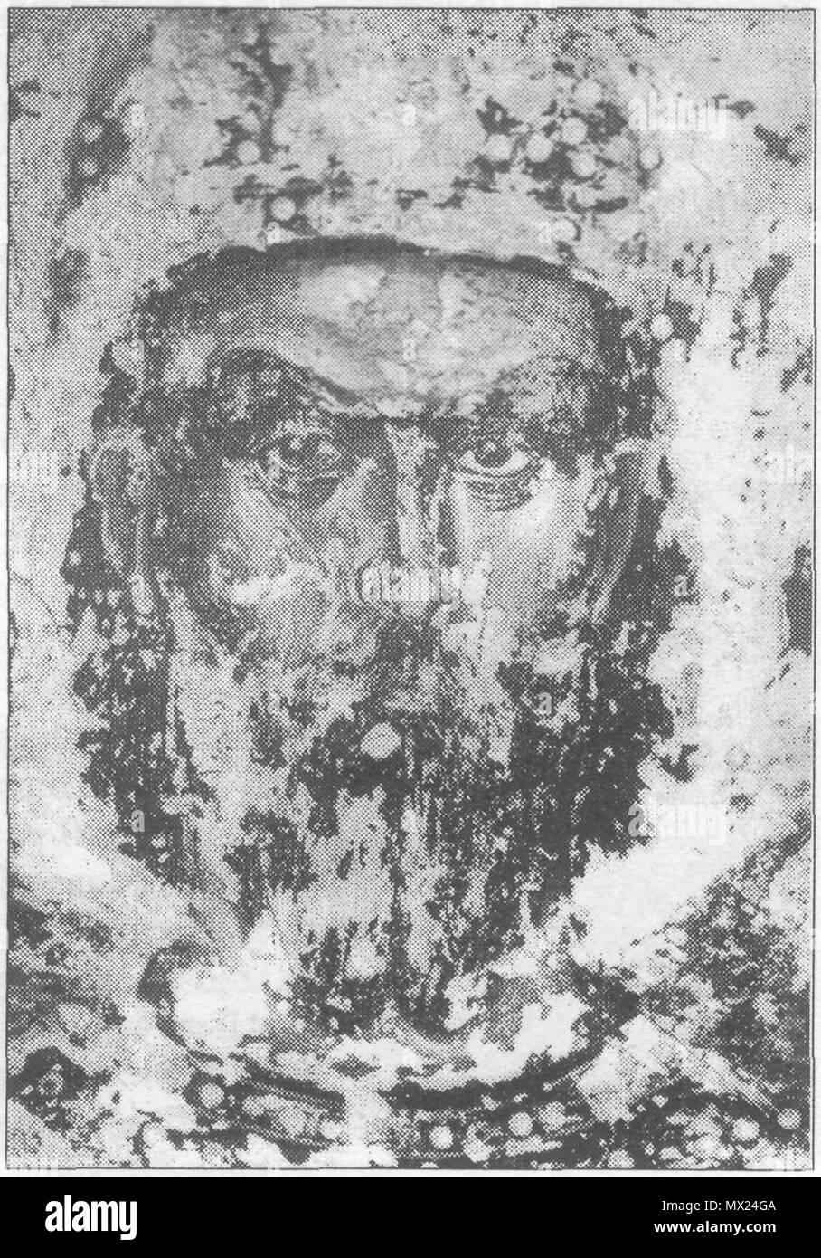 . English: Serbian king Marko Kraljević, second half of the XIV century, fresco from Marko`s monastery near Skoplje, Republic of Macedonia . second half of the XIV century. Unknown Serbian painter 348 Kralj-Marko Stock Photo
