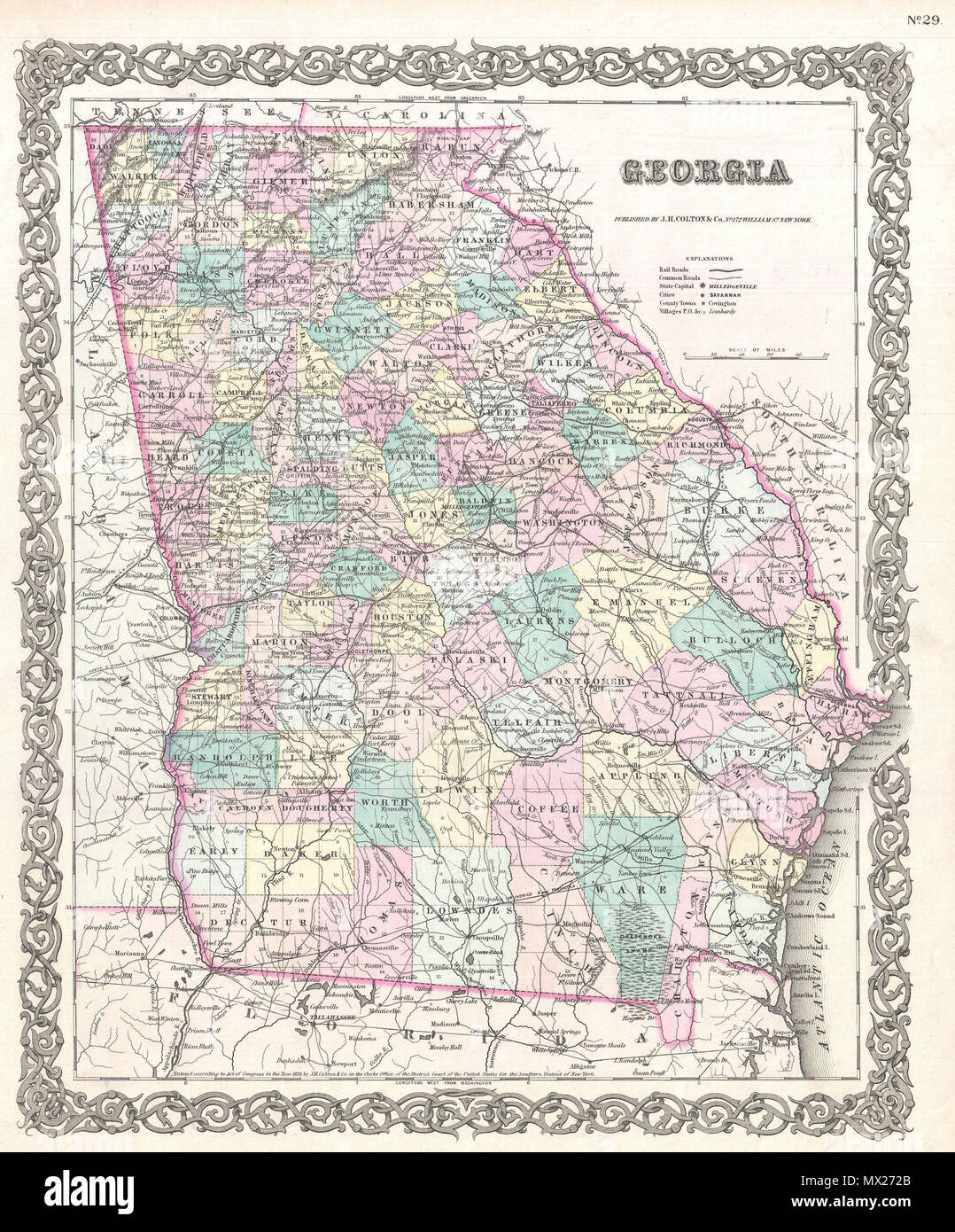 Georgia. English: A beautiful 1855 first edition example of ... on map of fayetteville georgia, map of savannah, map of georgia glynn, map of georgia state, map of marietta georgia, map of augusta georgia, map of colorado, map of georgia counties, map of alaska, map of columbus georgia area, map of georgia country, map of alpharetta georgia area, georgia's cities, map of georgia colleges, map of kentucky, map of sc, map of ga, georgia map with cities, map of north georgia, map of georgia waterways,