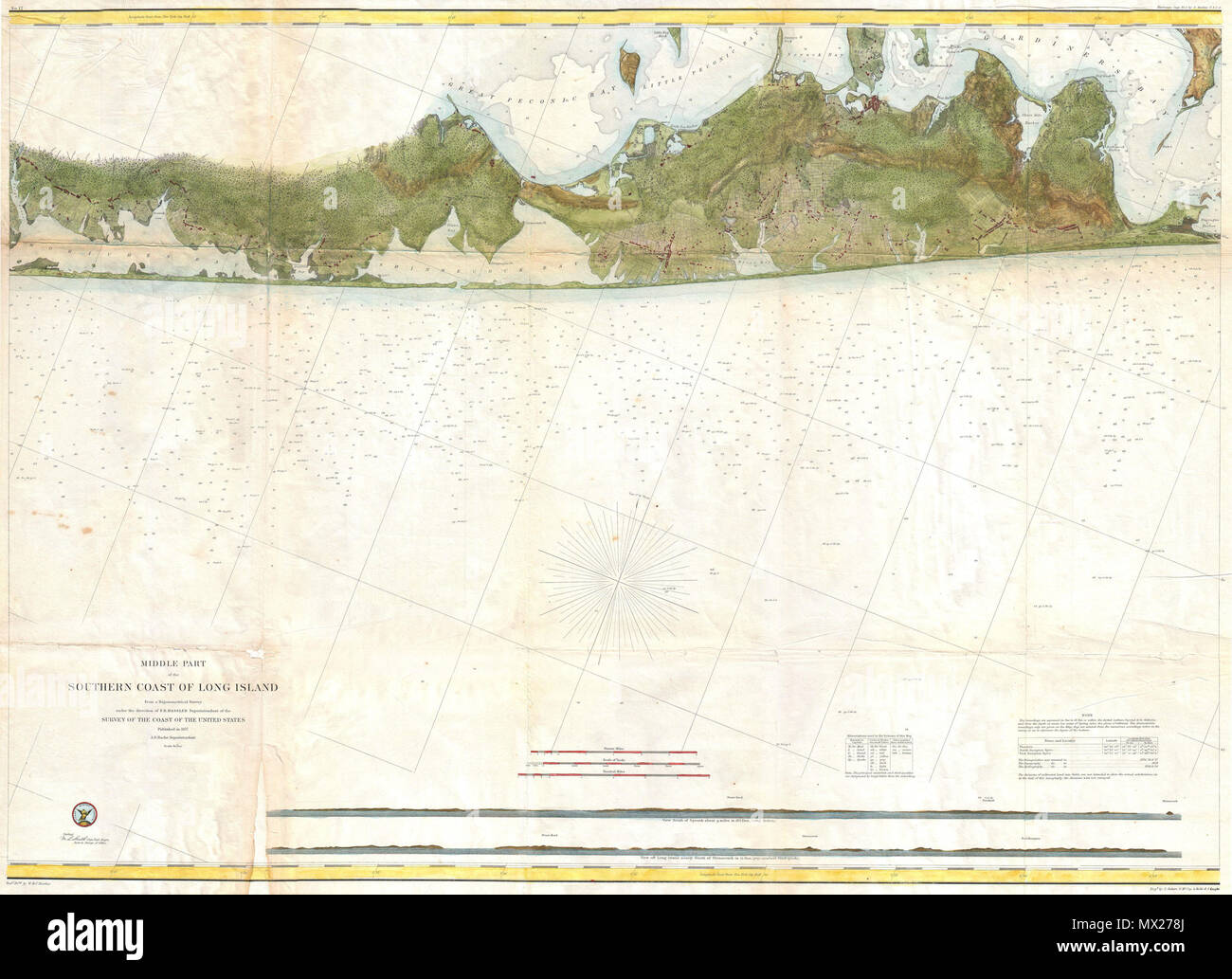 Map Of Quogue New York.Middle Part Of The Southern Coast Of Long Island English This Is