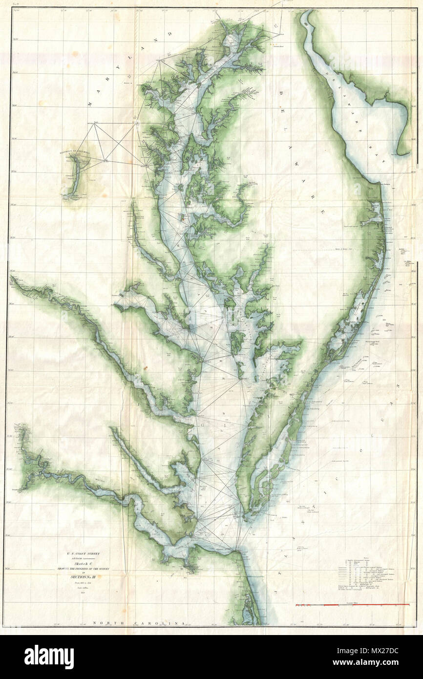 James River Us Map.Sketch C Showing The Progress Of The Survey In Section No Iii From