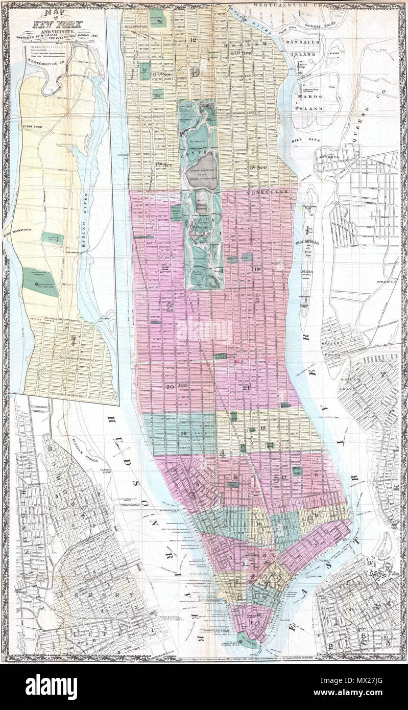 Map Of New York And Vicinity English This Is A Rare Large Format