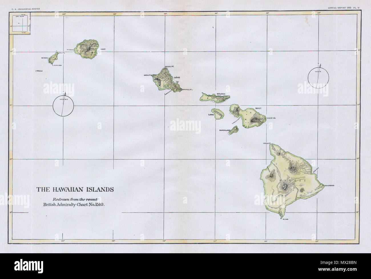 The Hawaiian Islands. English: This beautiful and ...