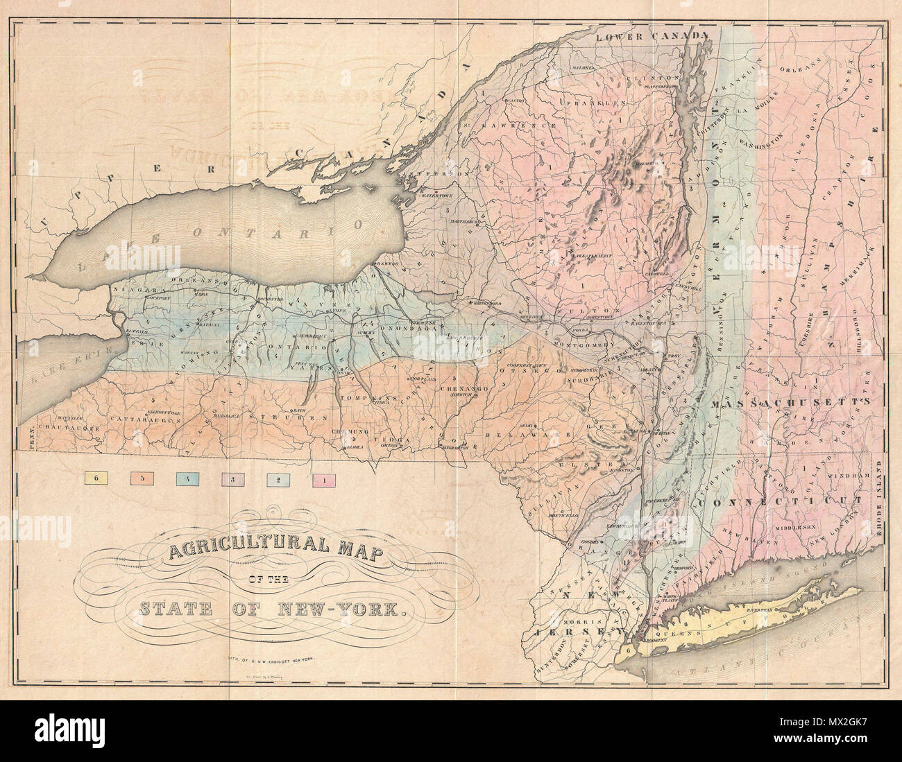 Agricultural Map of the State of New-York. English: This is ... on topographical map of vermont, tourist map of vermont, geologic map of vermont, political map of vermont,