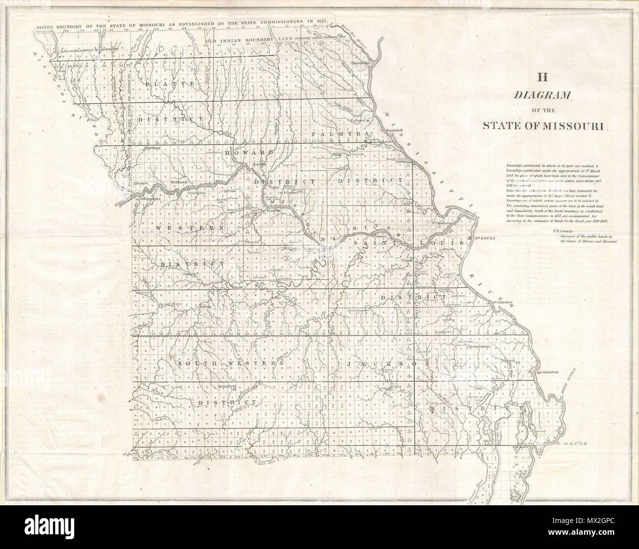 Diagram of the State of Missouri . English: This magnificent map of ...