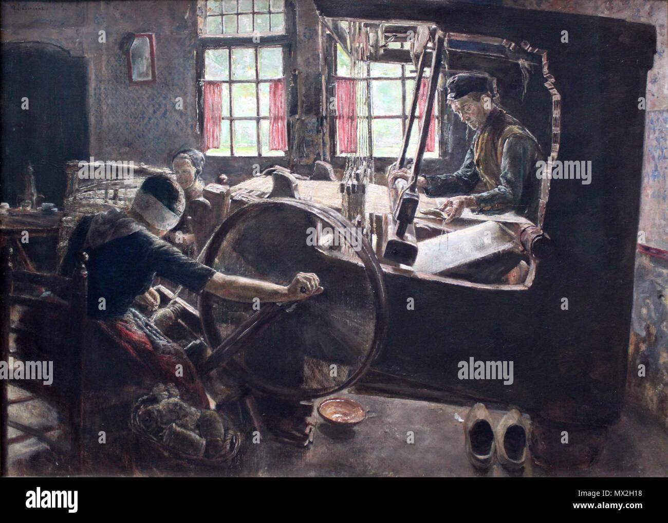 .  English: The Weaver Deutsch: Der Weber . 1882 10 1882 Liebermann Weber anagoria - Stock Image