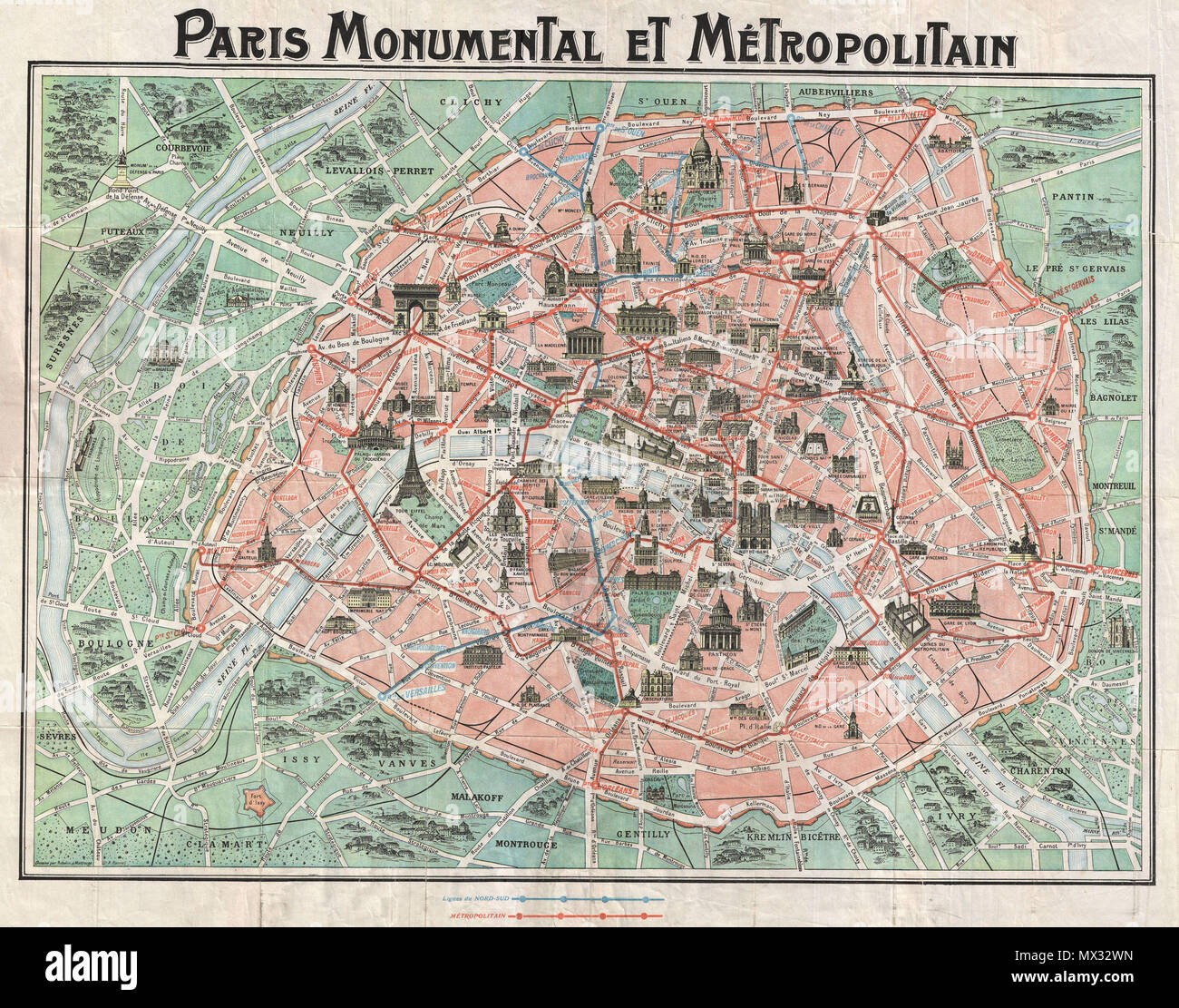 Subway Map Paris English.Paris Monumental Et Metropolitain English This Is An Extremely