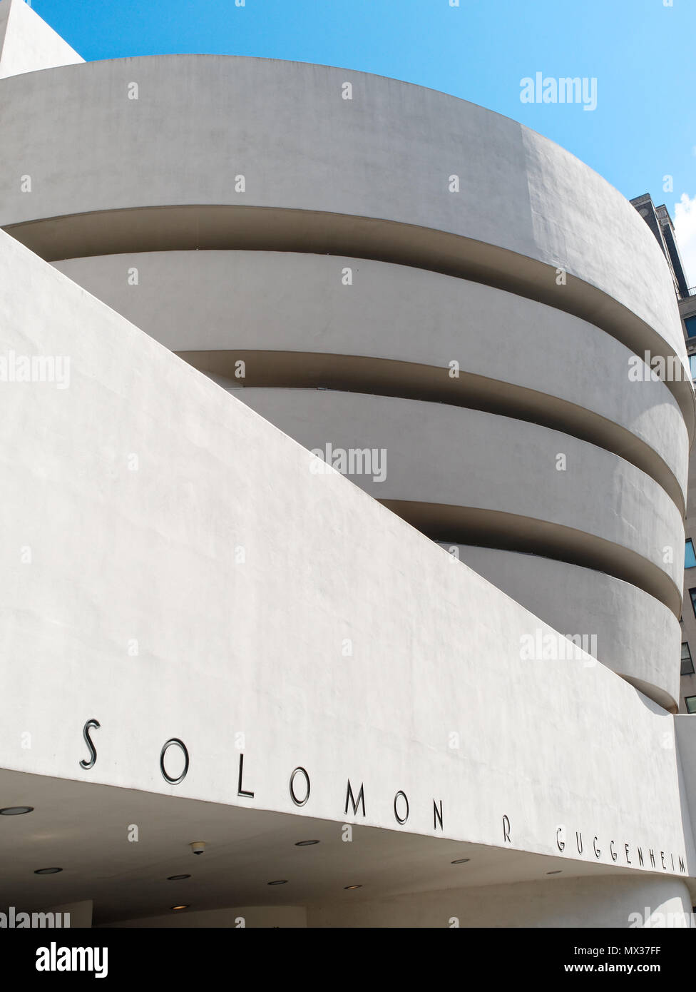 New York City, USA - April 2018: the Guggenheim Museum at Central Park - Stock Image