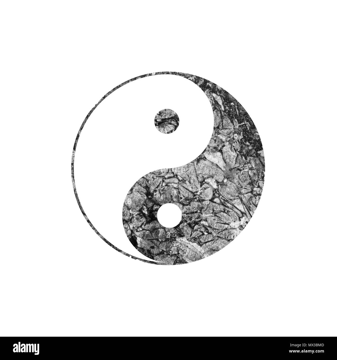 Drawing Yin Yang Abstract Symbol Black And White Stock Photos