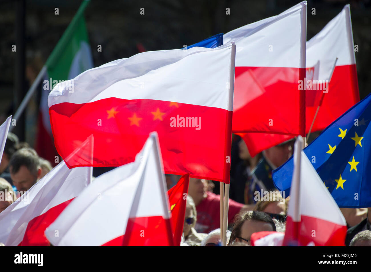 Anti ONR protest in Gdansk, Poland. April 21st 2018 © Wojciech Strozyk / Alamy Stock Photo - Stock Image