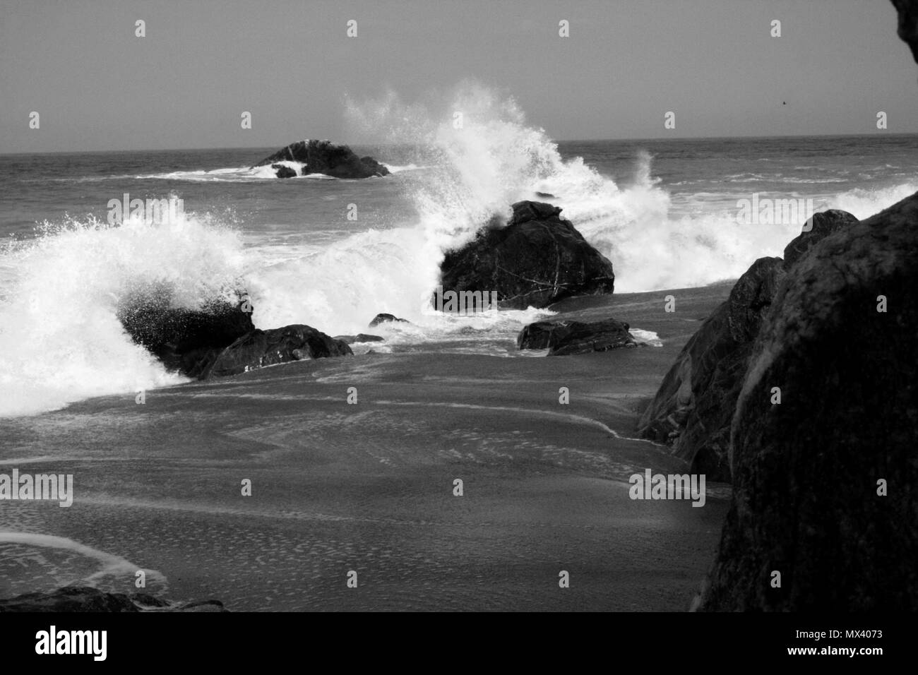 Wawes at the Pacific Ocean - Stock Image