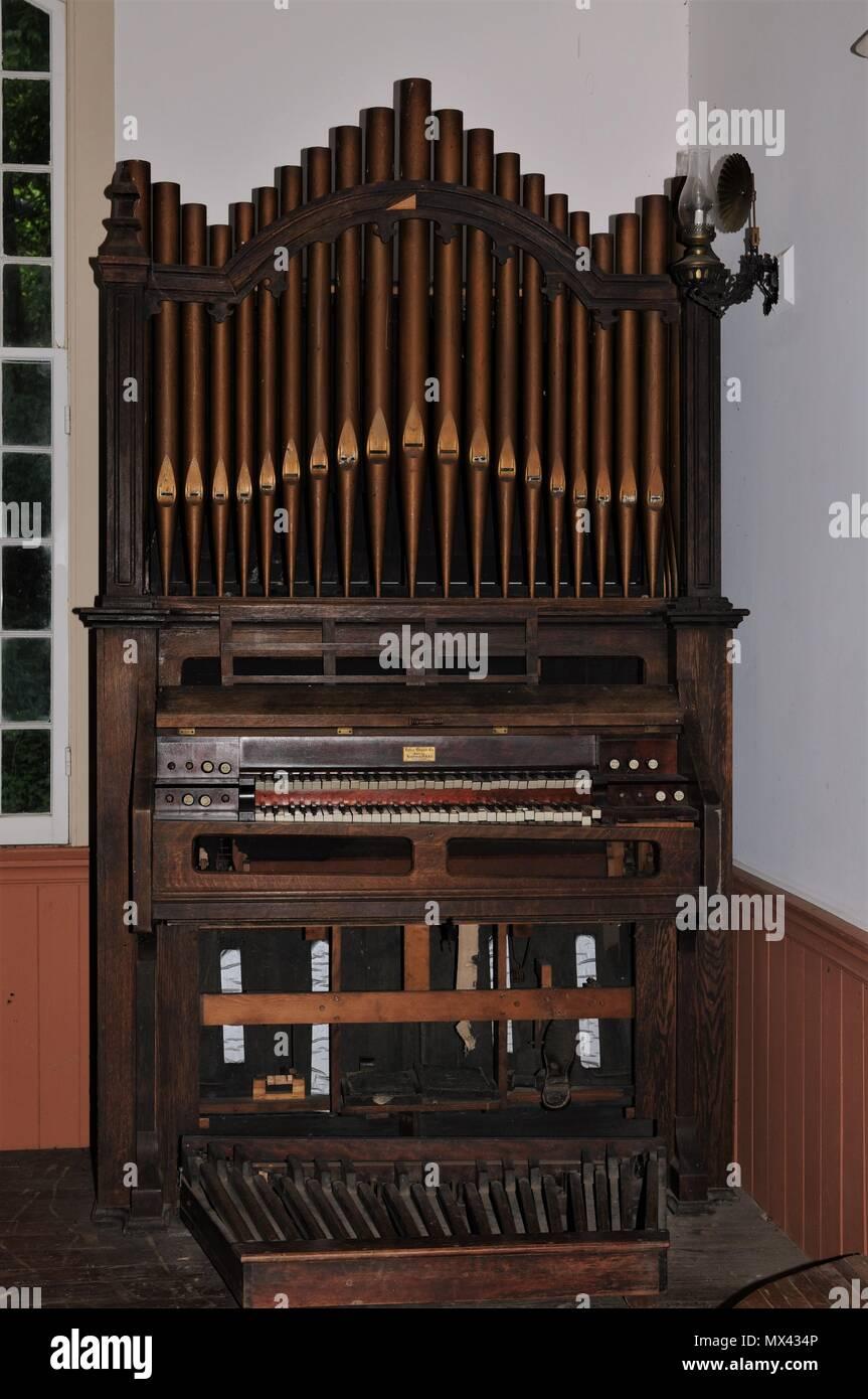 Church pipe organ - Stock Image
