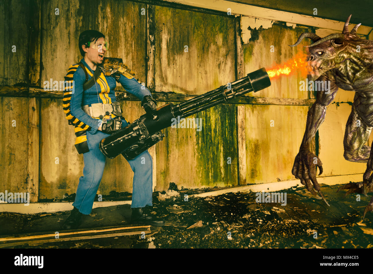 Fallout 76 vault dweller from the Fallout game from Bethesda